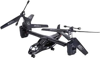 シミュレート オスプレー ヘリコプター2.4GHz 4.5CH 6軸ジャイロスコープ 携帯制御 軌道飛行 リモートコントロール玩具 シルバーカラー(ブラック)