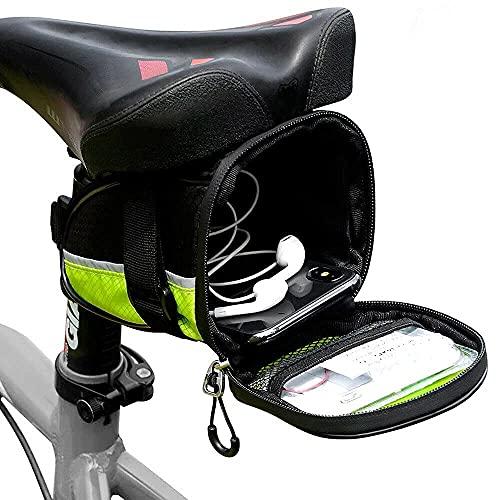 Dyanatic - Borsa da sella per bicicletta, con LED e indicatori di direzione, riflettente, per scooter elettrico, sicurezza notturna, impermeabile