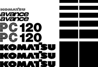 New Decal Set with Avance Decals Made for PC 120 Komatsu Excavator