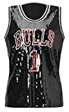 Howriis Women's Black Sequins Basketball Tank Vest (One...