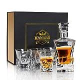 KANARS WD03 Jarra de Whisky, 5 Piezas, 100% Libre de Plomo Cristalino...