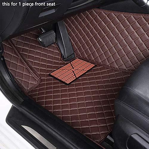 Super1Six wasserdichte Custom Auto Fußmatten, Für V-W Passat Polo Golf TIGUAN Jetta TOURAN Touareg EOS Ganzjahres-rutschfeste Auto-Bodenbeläge,Kaffee,Wheel Left