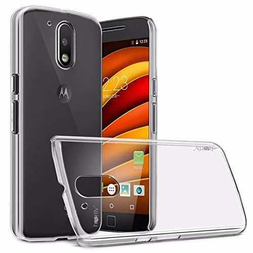 Heartly Transparent Clear Crystal Hot Thin Hard Back Case Cover for Motorola Moto G Plus 4th Gen - Crystal View