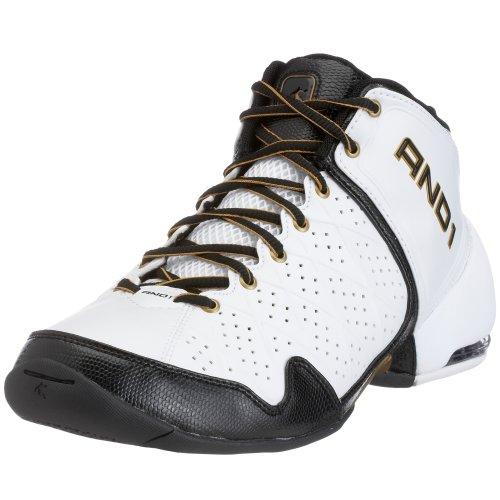 AND1 - Zapatillas de Baloncesto de Cuero Unisex, Color Blanco, Talla 44.5