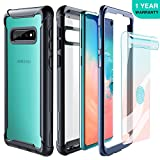 FITFORT Samsung Galaxy S10 Case Full Body Rugged Heavy Duty Clear Bumper Case with Free Screen...