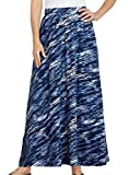 AmeriMark Women's Softly Knit Maxi Long Skirt with Elastic Waist Band Multi 2X
