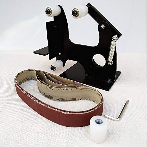 isunking Winkelschleifer Poliermaschine Modifiziert in Schleifbandmaschine Polierer Rad Bandmaschine Zubehör Schleifmaschine (610 * 30mm)
