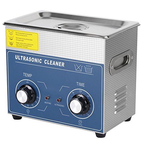 Ultraschallreiniger, Edelstahl Ultraschallreiniger beheizte Reinigungsgerät Ultraschallreinigungsgerät Ultraschallbad mit Korb, Temperature 20~80℃ (3L)