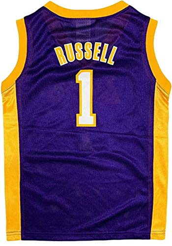 D'Angelo Russell Los Angeles Lakers #1 Purple Youth Player Jersey (X-Large 18/20)