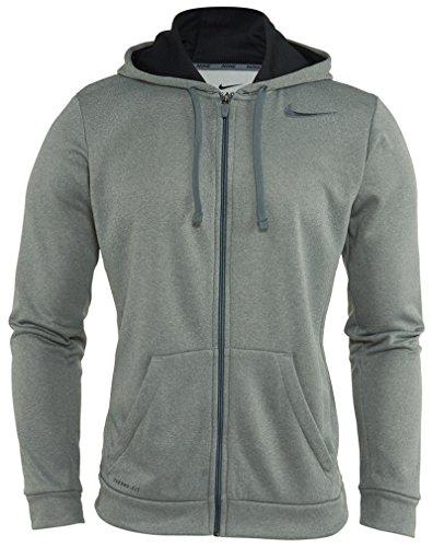 Nike Herren Jacke KO Full Zip Hoodie 3.0, Dark Grey Heather/Black/Cool Grey, S