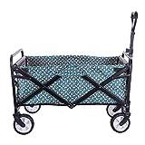 FENGShopping cart Carretilla de Mano Plegable, Carrito de Picnic Carrito de Transporte Carrito de Playa Carrito de Transporte Remolque de jardín Carrito de jardín, Giratorio 360 °, 73x75x49cm
