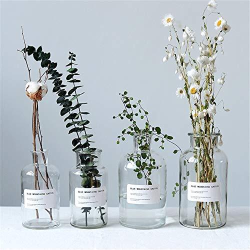 Botes de almacenamiento, Botella transparente Escritorio Organizador de almacenamiento elegante y minimalista de almacenamiento tarros de cristal del florero Decoración (Color : 1000ml small mouth)