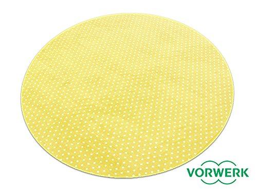 HEVO Vorwerk Bijou Petticoat gelb Teppich | Kinderteppich | Spielteppich 200 cm Ø Rund Sonderedition