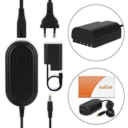 subtel® Fuente alimentación Compatible con Panasonic GH5 Lumix DC-GH5s DMC-GH4 GH4 GH4r GH4h GH3 Lumix DMC-GH3h GH3a G9 Lumix DC-G9, 3m, DMW-AC8 + DMW-DCC12 Cable Cargador de Corriente