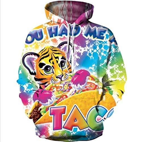 NAID 2019 nieuwe tijgerprint 3D bedrukte damesjas met capuchon femme sweatshirt casual losse mannen tas hoodies mantel tops