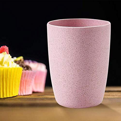 Tassen Nordic Style Kunststoff Teetassen Umweltfreundliche Weizen Stroh Tasse Kaffee Tee Milch Getränk Tasse Zahnbürste Tasse Für Zu Hause Badezimmer, Pink
