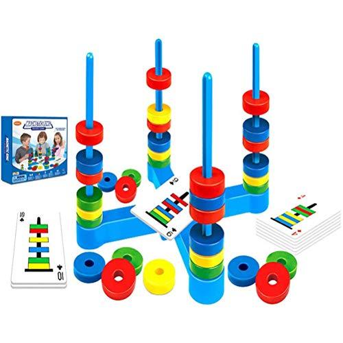 Jackallo Family Kids Brettspiel, Magnetic Ring Brettspiel Lernkarten Pädagogische Wissenschaft Magnete Spielzeug Kinder Geschenk für Jungen Mädchen Alter 3 4 5 Matching Rings Spiel für Schulfamilien