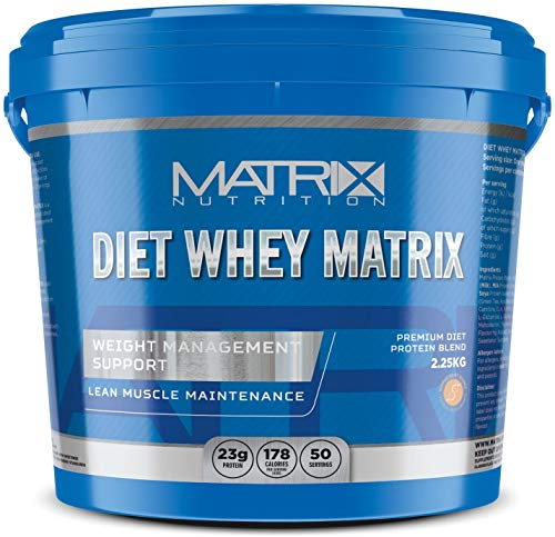 Matrix Nutrition Diet Whey Protein Powder Shake - Meal Replacement Weight Loss Shake (Peanut Butter, 5KG)