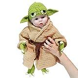 Disfraz Infantil de bebé Yoda 5 Piezas Traje Tejido a Mano Novedad niño Yoda...