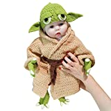 Traje de bebé infantil Traje recién nacido tejido a mano Crochet Knit Set para...