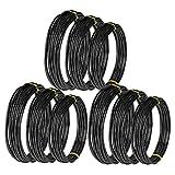 SODIAL 9 Rollos Bonsai Wires Alambre de Entrenamiento de Aluminio Anodizado Bonsai con 3 Tama?Os (1.0 Mm, 1.5 Mm, 2.0 Mm), Total 147 Pies (Negro)