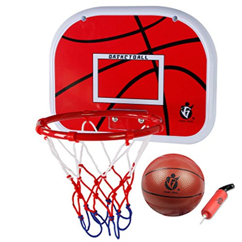 Kids Indoor Basketball Hoop Play Set,VicPow Mini Hanging Basketball Board with...