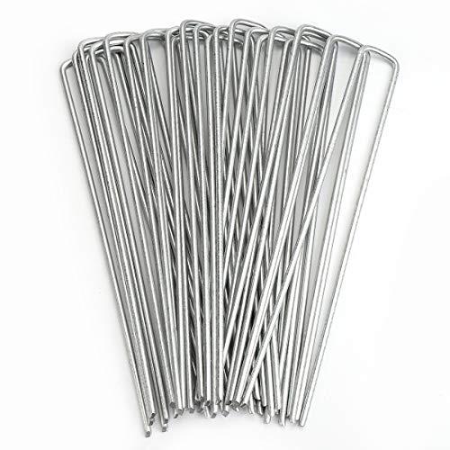 Sekey Pack de 25 Piquets de Jardin en Acier Multi-usages en Forme de U de 200 * 25mm φ3,5mm Idéal pour Toiles de paillage