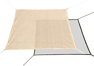 Alion Home HDPE 60% Sun Block Garden Netting Mesh for Plants Protecting - Beige (1, 10` x 10`)