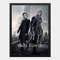 ハンギングペインティング - ダークタワー DARK TOWERのポスター 黒フォトフレーム、ファッション絵画、壁飾り、家族壁画装飾 サイズ:33x24cm(額縁を送る)