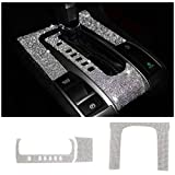 TopDall Gear Panel Bling Crystal Accessory Interior Cover Stickers Compatible for Honda Civic