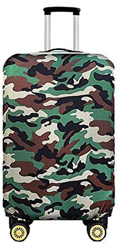 【nuage mauve】伸縮素材 スーツケース カバー 選べる 柄 バリエーション (71 グリーン迷彩 S) スーツケース スーツ ケース ベルト 機内 持込 カバー リモア エース 持ち 込み きないもちこみ