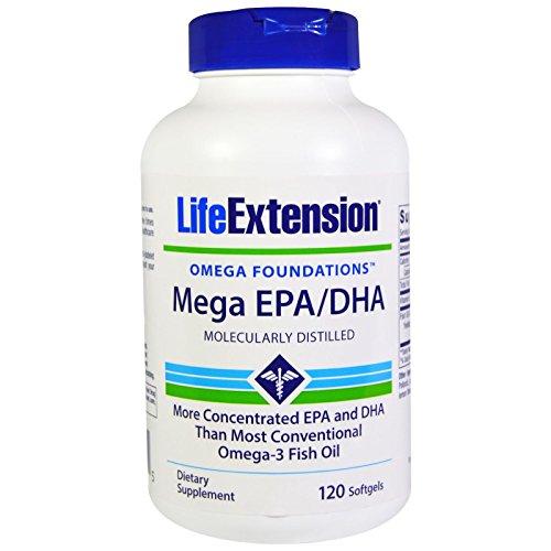 Doppelpack Mega EPA/DHA, 600mg, 120 Kapseln von Life Extension