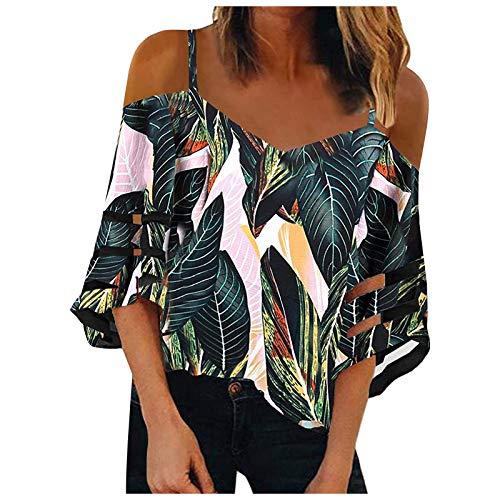 Camiseta de verano para mujer, elegante, transparente, sin hombros, manga corta, cuello en V, patchwork, fitness, deporte, bsica, tnica, adolescente, nia, Verde C, M