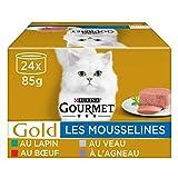Gourmet Gold – Las muselinas: Conejo, Buey, Vela, Cordero – 24 x 85 g –...