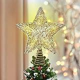 Luxspire Punte Albero di Natale, Puntale per Albero di Natale, Puntale Stella per Albero d...