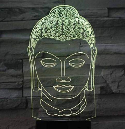 Lámpara nocturna de Buda Bulbing para lámpara de juguete para Navidad, 7 colores cambiantes