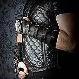 Brazalete de tiro con arco de pulsera de hombre retro medieval, brazaletes protectores de antebrazo de mano con arco de cuero, accesorio ajustable para práctica de tiro al blanco de caza