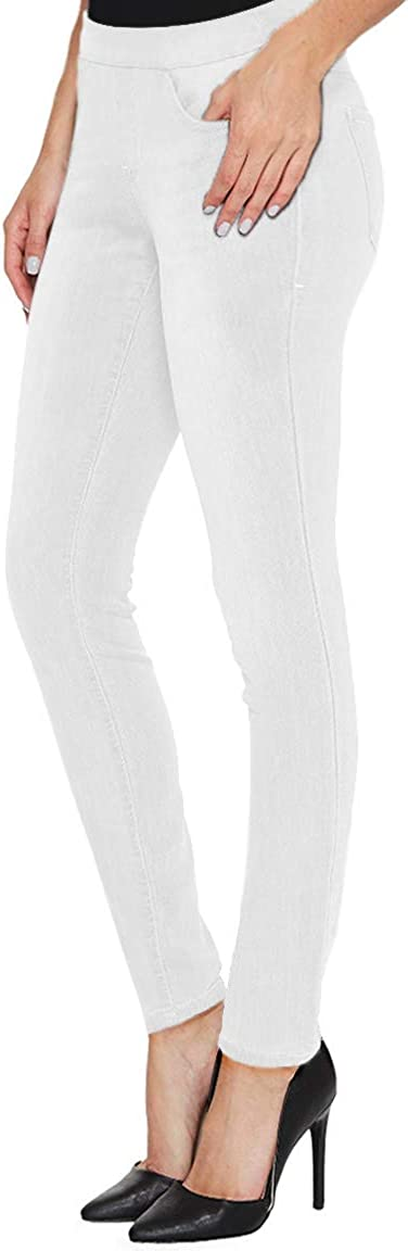 H&C Women Super Stretch Skinny Pull on Pant with Petite Regular and Long Inseam