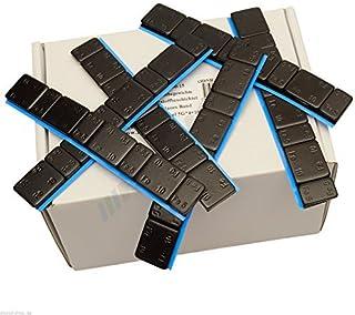 25 stänger med svarta balansvikter, var och en med 4 x 5 g och 4 x 10 g - Självhäftande vikter, självhäftande stänger