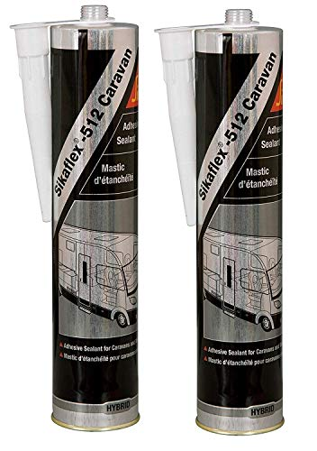 Sikaflex 512 Dichtmasse für Wohnwagen, Wohnmobil, Doppelpack, 300 ml, Weiß