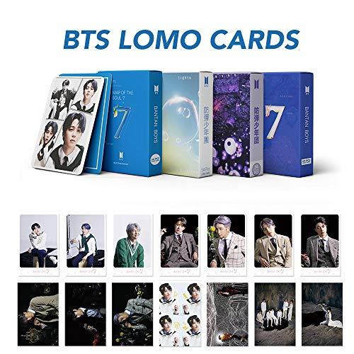 KPOP BTS Postkarten-Set New Album Lomo Karten Karte der Seele 7 Grußkarte Bangtan Boys World Tour JIMIN J-HOPE Geschenk für Armee 4 Stück