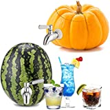 Stainless Steel Watermelon Keg Tap Kit - [Leakproof] [NO Clog] Pumpkin Fruit Keg Tapping with Coring Tool, [Adjust Shank] DIY Watermelon Spigot for Cocktail Party-Tea Drink Dispenser Spout