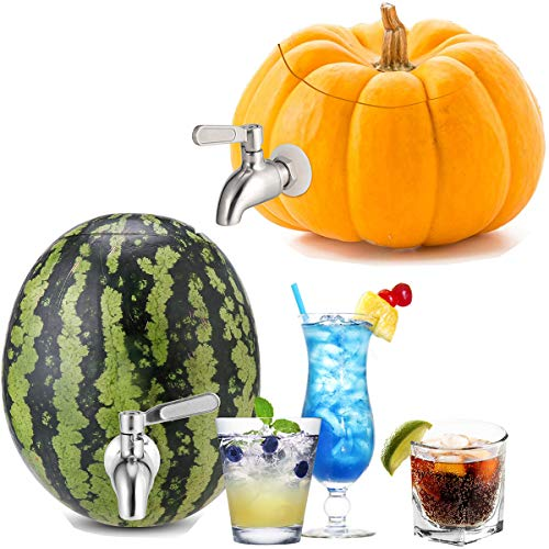 Stainless Steel Watermelon Keg Tap Kit - [Leakproof] [NO Clog] Pumpkin Fruit Keg Tapping with Coring...