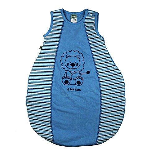 Jacky Baby Jungen Schlafsack, wattiert, Baby Boy, Alter 2-6 Monate, Größe: 62/68, Farbe: Hellblau geringelt, 321712
