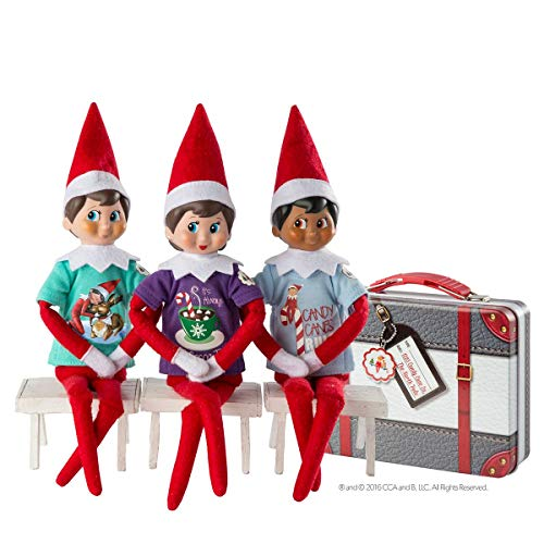 The Elf on the Shelf Claus Couture Collection Sweet Tees Suitcase set - A Scout Elf is not included | Elf on the Shelf Clothes | Elf on the Shelf Accessories