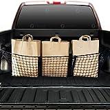 cargo bag bed truck - Zone Tech Three Pocket Mesh Storage Net - Black Mesh Three Pocket Trunk Cargo Organizer
