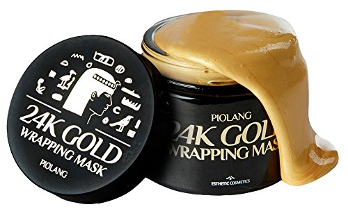 Korean Piolang 24K Gold Wrapping Mask With Free Brush Dilute Redness Balance the Face Color Return Natural Radiance Refresh Tired Skin- 80ML by korean