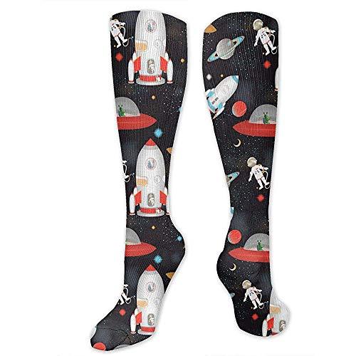 Zome Lag Reiskousen, Kniehoge Team Tube sokken, kniekousen, steunkousen, herensokken, ruimtestation buiten de vrouwenfeestdagssokken, cosplay-sokken, mannen-tienersokken