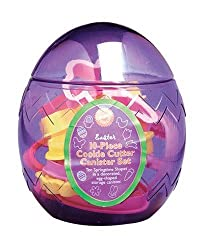 Wilton 10 Piece Easter Egg Cookie Cutter Canister Set