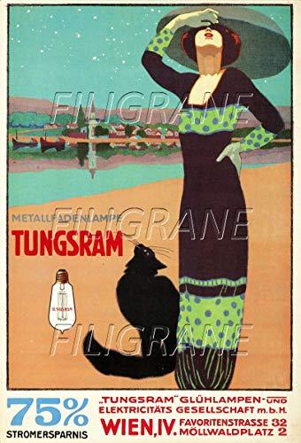 PostersAndCo TM TUNGSRAM Leuchtmittel Lampe Ryjr-Poster/Nachbildung 60 x 80 cm d1, Vintage/Retro